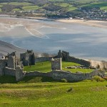 Llansteffan CastleAerialCarmarthenshireCastlesHistoric Sites